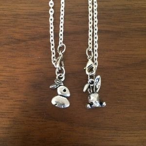 Easter bunny stainless steel necklaces
